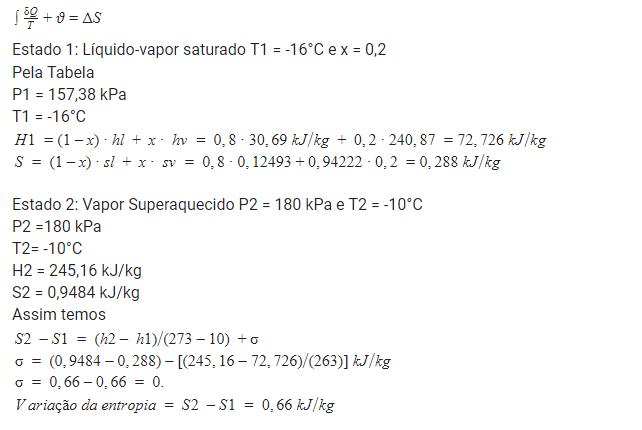 Resolução de exercício de leis da termodinâmica