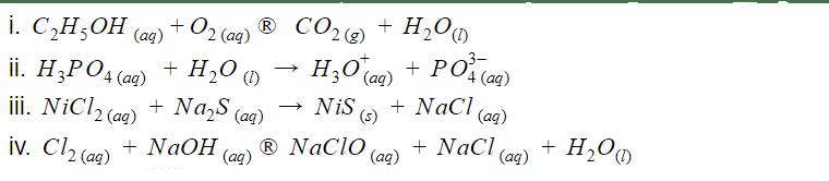 Balanceamento químico resolvido