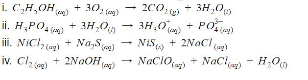 Balanceamento de reações químicas